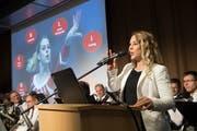 Giulia Steingruber nach ihrer Ernennung zur Ehrenbürgerin. (Bild: Ralph Ribi)