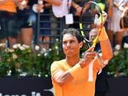 Rafael Nadal bedankt sich in Rom beim Publikum (Bild: KEYSTONE/EPA ANSA/ETTORE FERRARI)