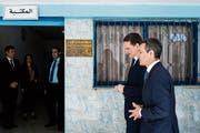 Aussenminister Ignazio Cassis hat auf seiner Jordanien-Reise Pierre Krähenbühl, Leiter des Flüchtlingshilfswerks UNRWA, getroffen. (Bild: Gabriele Putzu/Ti-Press (Amman, 14. Mai 2018))