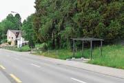 Die bisherige (links) und die künftige Bushaltestelle in Wiezikon. (Bild: Roman Scherrer)