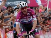 Der Italiener Elia Viviani bewies in der 13. Etappe des Giro d'Italia erneut seine Qualitäten im Sprint (Bild: KEYSTONE/EPA/ATEF SAFADI)
