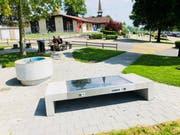 So sieht die Solar-Sitzbank bei der Raststätte Neuenkirch aus. Bild: PD