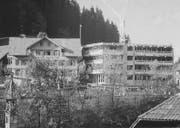 Das alte Bürgerheim in Wolhusen (links) und daneben der Neubau des Wohn- und Pflegezentrums. Bild: Pd