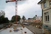 Die Bauarbeiten schreiten gut voran. (Bild: Sebastian Schneider)