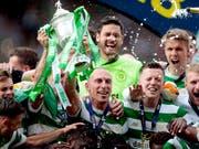 Im Freudentaumel: Celtic Glasgow gewann den schottischen Cup zum 38. Mal (Bild: KEYSTONE/AP PA/GRAHAM STUART)