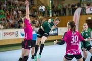 Auch Topskorerin Azra Mustafoska kann die Brühler Niederlage nicht abwenden. Bild: Ralph Ribi