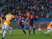 Der 17. Saisontreffer des neuen Torschützenkönigs: Albian Ajetis 2:1 für den FC Basel (Bild: KEYSTONE/GEORGIOS KEFALAS)