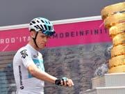 Erster Saisonsieg: Chris Froome meldete sich am Giro d'Italia im Kampf um den Gesamtsieg zurück (Bild: KEYSTONE/EPA ANSA/DANIEL DAL ZENNARO)