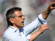 Boro Kuzmanovic muss alles aus der St. Galler Mannschaft herausholen (Bild: KEYSTONE/GIAN EHRENZELLER)
