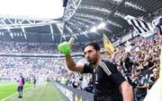 Gigi Buffon vor seinem letzten Spiel in der Serie A. EPA/ALESSANDRO DI MARCO