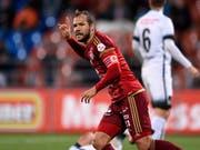 Franz Burgmeier schoss das 3:0 für den Liechtensteiner Serien-Cupsieger (Bild: KEYSTONE/NICK SOLAND)