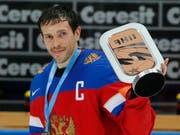 Pawel Dazjuk ist einmal mehr russischer WM-Captain (Bild: KEYSTONE/EPA/SERGEI ILNITSKY)