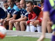 Pavel Pergl, zweiter von rechts, im August 2015 auf der Ersatzbank des FC Vaduz (Bild: KEYSTONE/PETER SCHNEIDER)