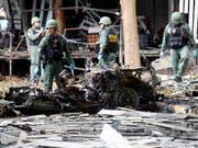 Auch dieses Attentat in Pattani im August 2016 hatten die nun zum Tode Verurteilten geplant. (Bild: KEYSTONE/EPA/ABDULLAH WANGNI)