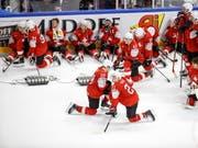 Grosse Leere bei den Schweizer Spielern nach dem verlorenen WM-Final (Bild: KEYSTONE/EPA KEYSTONE/SALVATORE DI NOLFI)