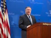 """Der neue US-Aussenminister Mike Pompeo kündigt die """"stärksten Sanktionen der Geschichte"""" gegen Iran an. (Bild: KEYSTONE/EPA/MICHAEL REYNOLDS)"""