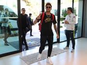 Neymar rückt guten Mutes in Brasiliens Camp im Granja Comary Trainingscenter ein (Bild: KEYSTONE/AP Brazilian Football Confederation - CBF/LUCAS FIGUEIR)