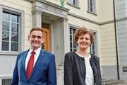 Marcel Ogg (FDP) und Anna Katharina Glauser Jung (SVP) kandidieren für das Obergerichtspräsidium. (Bild: Donato Caspari)