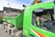 Der Ferienpass-Kurs «Mit dem Lastwagen unterwegs im Oberthurgau» wird auch dieses Jahr wieder angeboten. (Bild: Manuel Nagel, 13. Juli 2017)