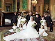 Ein Schnappschuss des offiziellen Hochzeitsfotografen: Prinz Harry und Meghan Markle im Schloss Windsor. (Bild: EPA/Alexi Lubomirski/Kensington Palace (Windsor, 19. Mai 2)