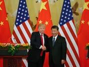 Nach der Annäherung zwischen den USA und China in ihrem monatelangen Handelsstreit hat die Regierung in Peking eine deutliche Absenkung der Zölle auf importierte Autos angekündigt. (Bild: KEYSTONE/EPA/ROMAN PILIPEY)