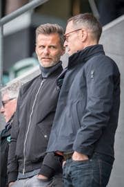 Sportchef Alain Sutter (links) und Präsident Matthias Hüppi haben viel Arbeit vor sich (Urs Bucher)