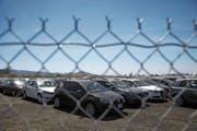 Deutschen Autos wie VW drohen in den USA saftige Zölle. (Bild: P. T. Fallon/Bloomberg (Kalifornien, 5. April 2017))
