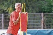 Vladimir Petkovic am Montag im Training in Freienbach. (Bild: Andy Mueller/Freshfocus)