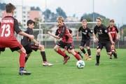 Duell zweier Bundesligisten: Bei den U13 gewann Freiburg den Final gegen Eintracht Frankfurt. (Bild: Manuela Jans-Koch (Luzern, 20. Mai 2018))