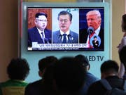 Der südkoreanische Präsident Moon Jae In trifft sich mit US-Präsident Donald Trump um das geplante Gipfeltreffen Trumps mit Nordkoreas Kim Jong Un vorzubereiten. Doch ob das für den 12.Juni geplante Treffen tatsächlich stattfindet, ist immer noch ungewiss. (Foto: Ahn Young-joon/AP) (Bild: KEYSTONE/AP/AHN YOUNG-JOON)