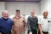 Von links: Die Stiftungsratsmitglieder Toni Achermann, Josef Zwyssig, Jörg Näpflin und Oswald Ziegler freuen sich über das gelungene Werk. (Bild: Christoph Näpflin, Seelisberg, 19. Mai 2018)