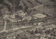 Flugaufnahme des Areals der Heberlein & Co. AG, der grössten Industriefirma des Thurtals. (Bild: PD)