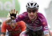 Gewinnt bereits seine vierte Etappe: Elia Viviani. (Bild: Daniel dal Zennaro (Iseo, 23. Mai 2018))
