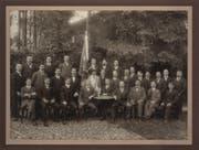 Der Männerchor Kriens anno 1917. (Bild: PD)