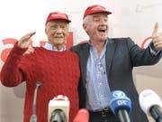 Airline-Gründer Niki Lauda (l.) und Ryanair-Chef Michael O'Leary im März in Wien. (Bild: Keystone/APA/APA/HERBERT NEUBAUER)