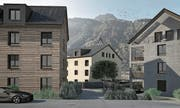 Fünf Häuser mit 23 Wohnungen sind geplant.Visualisierung: PD