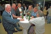 An der Korporationsversammlung herrschte gute Stimmung. (Bilder: Robert Hess (Pilatus Kulm, 22. Mai 2018))