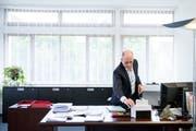 Stadtpräsident Alex Brühwiler räumt schon bald sein Büro im Gossauer Rathaus. (Bild: Mareycke Frehner)