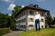 Peter am Rhyn vor dem Freihof Geissenstein. (Bild: Philipp Schmidli, Luzern, 18. Mai 2018)