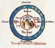 Ins Zentrum seiner Welt stellt der Einsiedler Mönch Albrecht von Bonstetten 1479 die Rigi. (Bild: Bild aus: Kurt Messmer, Die Kunst des Möglichen)