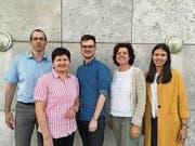 Die Kandidaten der Grünen Risch-Rotkreuz (von links): Roger Gwerder, Hanni Schriber-Neiger, Konradin Franzini, Rita Wandeler und Carla Stehlin. (Bild: Rahel Hug (Rotkreuz, 24.Mai 2018))