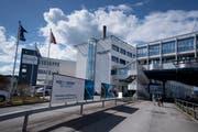Produktionsstätte von Hochdorf. (Bild: Corinne Glanzmann (Hochdorf, 5. April 2018))