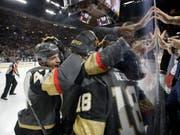 Die Vegas Golden Knights wollen ihren Siegeszug bis zum Gewinn des Stanley Cups fortsetzen (Bild: KEYSTONE/AP/JOHN LOCHER)