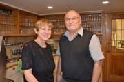 Maya Frischknecht und Erich Willener, die Vorbesitzer der Rose Müselbach. (Bild: Beat Lanzendorfer)