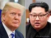 Doch kein Treffen am 12. Juni: US-Präsident Donald Trump (links) hat das mit Spannung erwartete Treffen mit Nordkoreas Machthaber Kim Jong Un abgesagt. (Bild: Keystone/AP/EVAN VUCCI)
