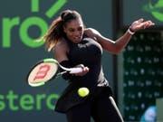 Serena Williams wurde durch die Schwangerschaft zurückgeworfen (Bild: KEYSTONE/AP/LYNNE SLADKY)