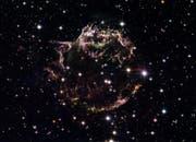 Cassiopeia, ein Supernova-Überrest in rund 11.000 Lichtjahren Entfernung von der Erde (Bild: Keystone)