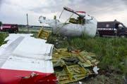 Überreste des Jets, der über der Ostukraine abgeschossen wurde. (Keystone)