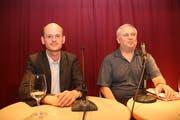 Die beiden Autoren: Vincenzo Todisco (links) und Pino Masullo. (Bild: Patricia Helfenstein)