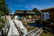 Der Luzerner Stadtrat will der Wohngenossenschaft Geissenstein EBG das Areal im Baurecht abgeben. Bild: Philipp Schmidli (25. Mai 2018)